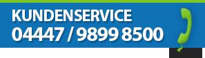 Unser Kundenservice ist gerne für Sie da.