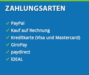 Bezahlen Sie mit Amazon, Paypal, Rechnung, Vorkasse oder Kreditkarte oder vielen andere Zahlungsweisen bei Agrarking.de